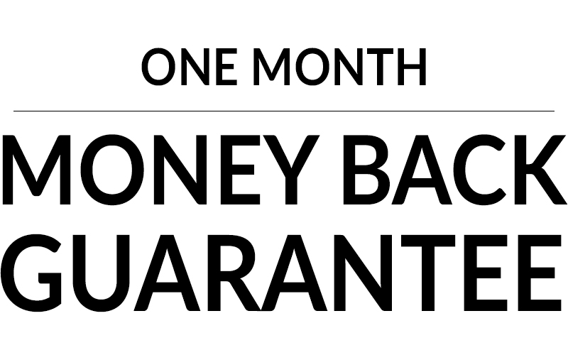 1 Month Money Back Guarantee with Sarabec