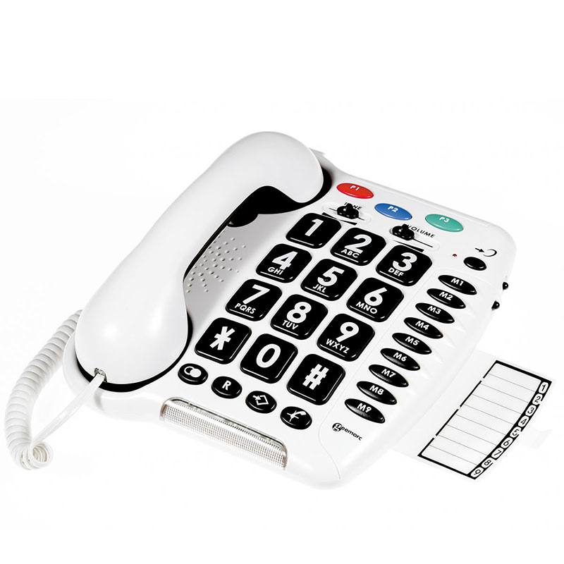 Geemarc CL100 Big Button Telephone - Access to Sound from